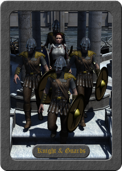 Knight and Four Guards